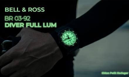 Bell & Ross BR 03-92 DIVER Full Lum : La Plongeuse qui offre une étanchéité de 300 mètres
