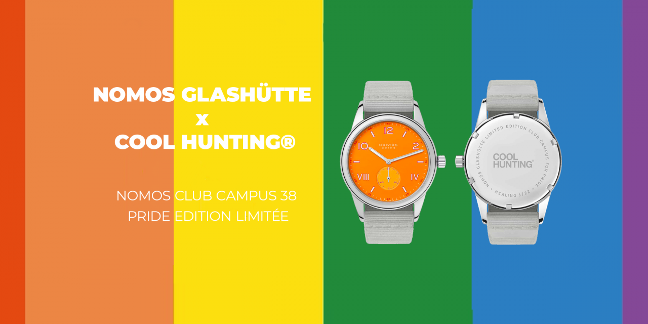 La nouvelle collaboration entre NOMOS Glashütte & COOL HUNTING® : La Nomos Club Campus 38 Pride edition limitée